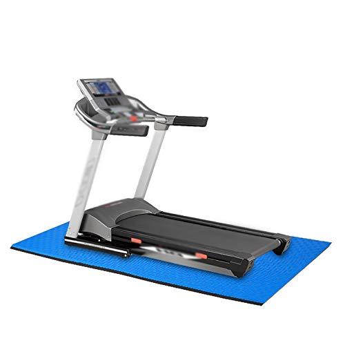 Homeland Tappetino Multifunzionale per Attrezzi ginnici, Tappetino Fitness per Tapis roulant Ellittiche Vogatori Tappetino per Bici reclinata (Color : Black-Blue, Size : 200 * 100 * 1.5cm)