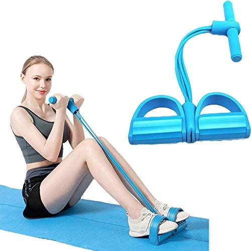 Ciujoy 4 Rohrbeintrainer Pull Rope Bands Multifunktions-krafttraining Yoga Fitness Fußpedal Zugseile Sit-up Bodybuilding-Expander-Widerstand-übungs-bänder Für Hauptgymnastik-ausrüstung