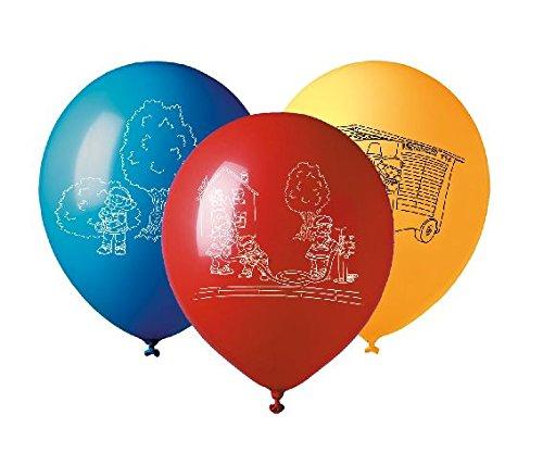 tib 19507 Luftballons Feuerwehr in 3 Farben, 5-er Set, Umfang: 96 cm, mehrfarbig, One Size