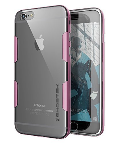 iPhone 6S Plus Case, Ghostek Cloak Series for Apple iPhone 6 Plus Slim Protective Armor Case Cover | Tempered Glass Screen Protector | Aluminum Frame | TPU Shell Exchange (Pink)