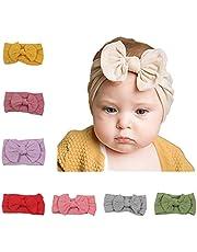 Junecake 18PCS Bebé Niñas Diademas,Diademas con lazo de Nylon Diademas de colores Accesorios para el cabello para recién nacidos Bebés Niños pequeños