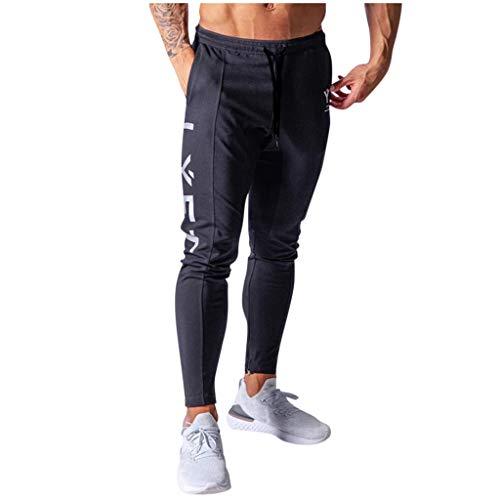 Daorokanduhp Men's Home Fitness Pants Fashionable Comfortable Elastic Waist Pockets Solid Color Sports Sweatpants Slacks Navy
