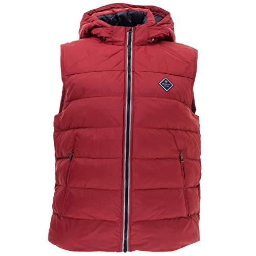 GANT Herren Weste Active Cloud Vest mit Kapuze Steppweste Outdoor in Rot Größe XL