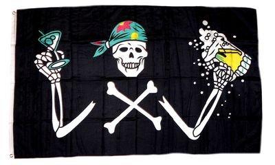 Flagge Fahne Pirat Bier Party 90 x 150 cm FLAGGENMAE®