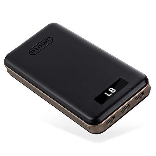 iMuto 30000mAh Portable Charger X6, 3-Port USB Output Power Bank External Battery...