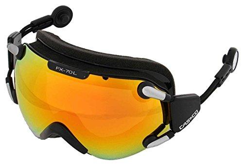 Casco Skibrille FX-70 MagnetLink Carbonic schwarz-orange, incl. Hardcase und Sacchetto L