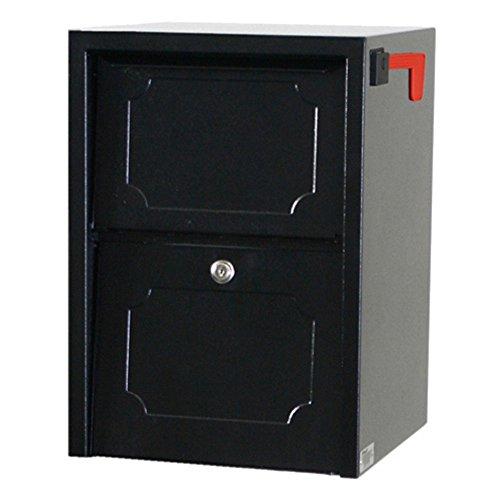 dVault Weekend Away Vault DVJR0060 Locking Post Column Mount Mailbox (Black)