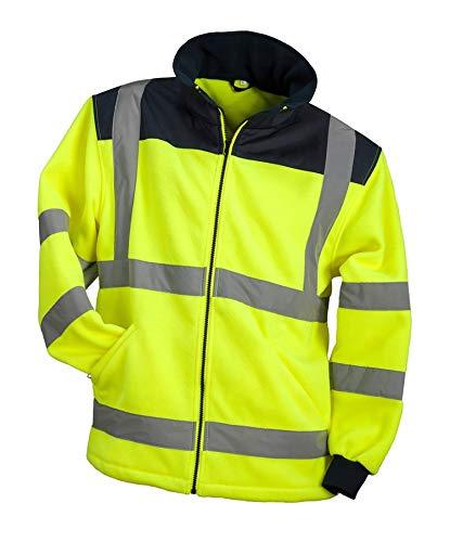 Urgent HSV Polar Professionelle, schützende, fleeceisolierte Schutzjacke Fleecejacke mit lichtreflektierenden Taschen Herren Jacke Arbeitsjacke EN13688 gelb (XXL)