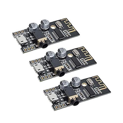 M28 MÓDULO BLUETOOTH INALÁMBRICO MP3 Tablero del receptor de audio MP3 4 Módulo de sonido estéreo 4plaques Black 3pcs, receptor