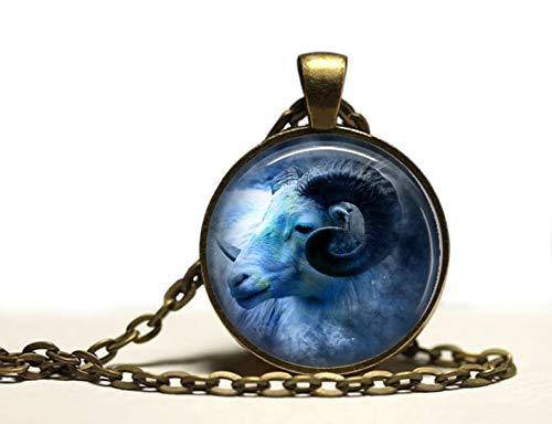 heng yuan tian cheng Ram Hanger, Astrologie Ketting, Horoscoop Bedel Zodiac Sieraden
