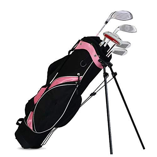 NEHARO Golf Club Inhaber Tasche Kids Golf Stand Bag Rosa Golftasche Travel Case-Organisator-Beutel Leicht Ständer Golf Unisex (Color : Girls, Size : 3-9 Years Old)