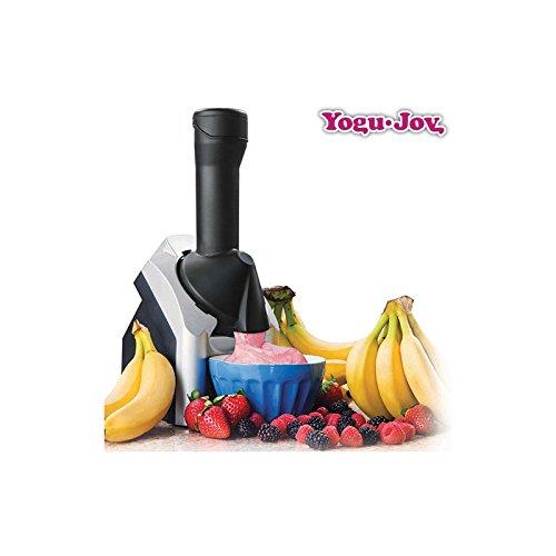 Yogu Joy Frozen Yogurt - Heladera, 220 W, color negro y plata