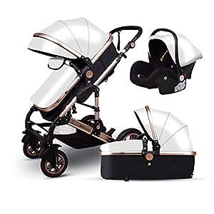 Znesd Bebé 3 en 1 carro de bebé con convertible assinet reversible e IMPACTO, Almacenamiento extra-grande, su…