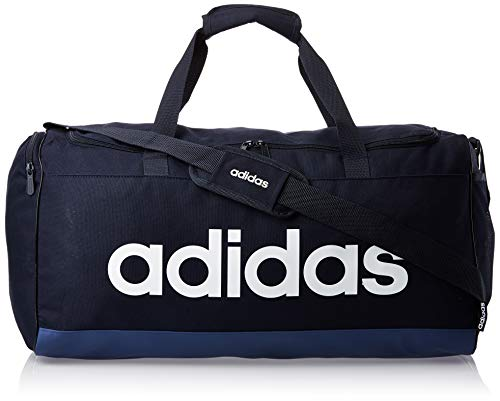 adidas Lin Duffle M, Borsa Sportiva Unisex-Adulto, Legend Ink/Tech Indigo/White, Taglia Unica