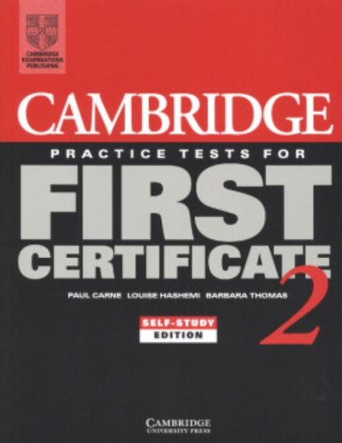 Cambridge Practice Tests for First Certificate 2 (Fce Practice Tests)