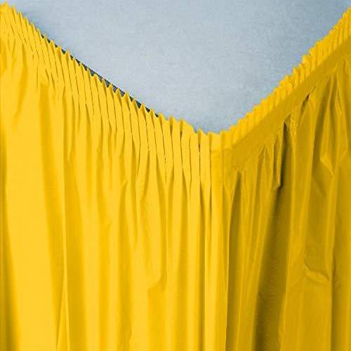 Creative Convertting- Kunststof rok 74 x 420 cm Geel School Bus Yellow, meerkleurig, 8C010041