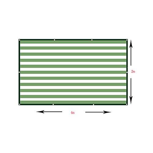 DUO Voiles d'ombrage Toile de rectangle de tissu d'ombre de 90% - tissu perméable UV de bloc Patio durable extérieur - adapté besoins du client disponible pour plante et fleur (Size : 4×2m)