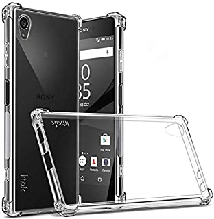 IMAK Sony Xperia XA1 Plus -Shockproof Soft Case Cover With Screen Protector Clear