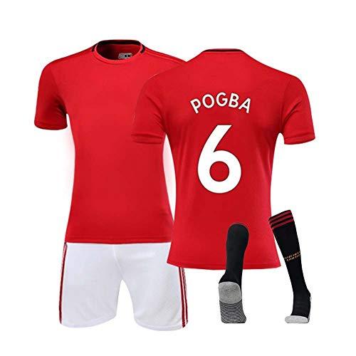COOLBOY 2019/20 Manchester United Maglia da Calcio Pogba #6, Bambino Adulto Maschio Calcio Maglia, T-Shirt Pantaloncini Calze,XL