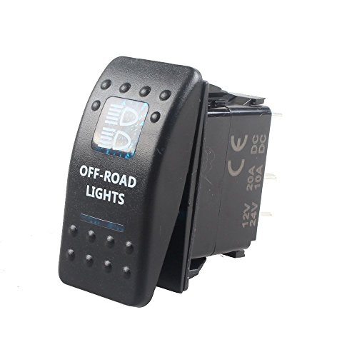 Mintice vehículo de 12V 20A LED azul interruptor de palanca basculante luz 5 Pines Off Road Light
