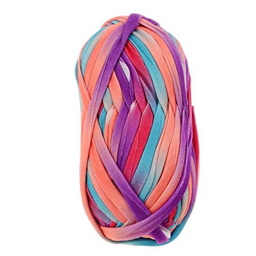 Hellery Textilgarn Stoffgarn Jerseygarn zum Stricken von Taschen, Kissen, Hüten, Decken 30m x 20mm - 14