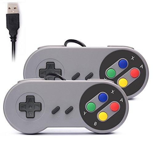 Rii GP100 SNES Retro USB Super Nintendo Controller, USB PC Controller,