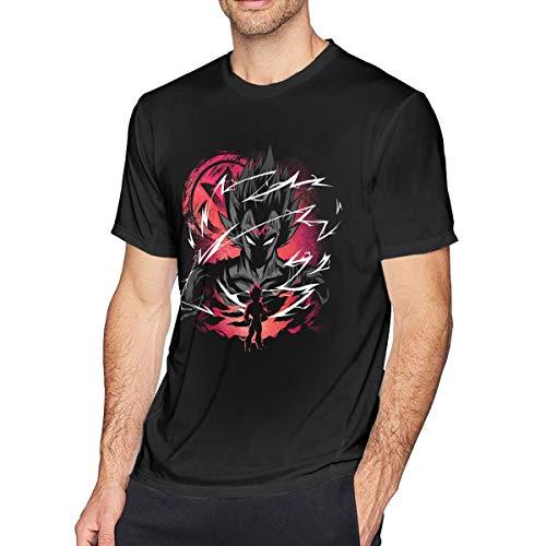 Majin Saiyan Prince Z Men's Printed T Shirts Fashion Short Sleeve Small Black