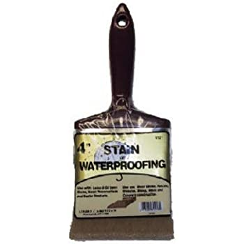 Linzer 3121 0400 Stain Waterproofing Brush, 4 in.