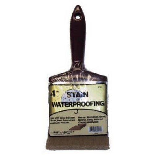 Linzer 3121 0400 Stain Waterproofing Brush, 4 in.