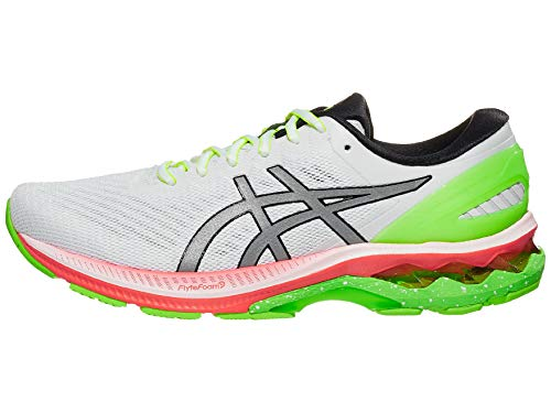 ASICS Men's Gel-Kayano 27 Lite-Show Running Shoes, 8M, White/Pure Silver