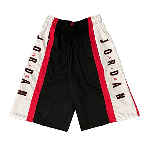 XXJJ Jordan Shorts Männer Basketball, Kurze Hosen Männer red-L
