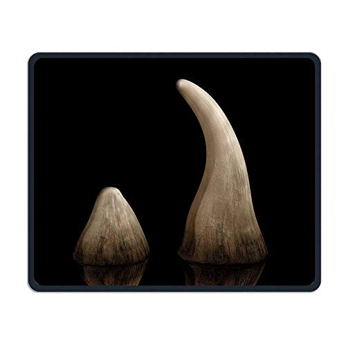 Rhinoceros Hoorn Comfortabele Rechthoek Rubber Base Mousepad Gaming Mouse Pad