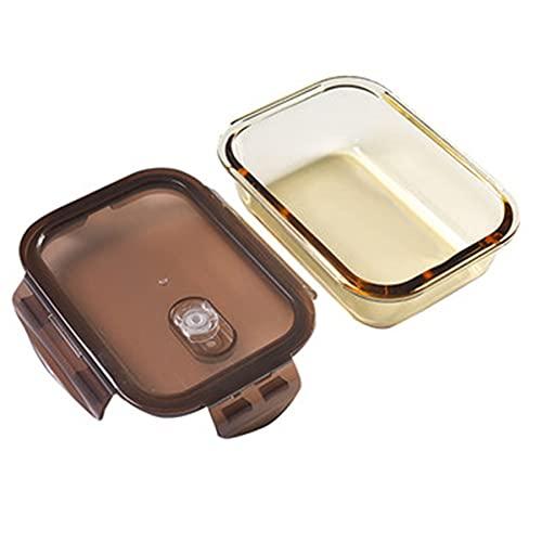 Caja de almuerzo de vidrio de compartimento, Caja de almuerzo de vidrio a prueba de fugas, Caja de almuerzo sellada, Divisor de seguros de microondas