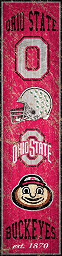 NCAA Ohio State Buckeyes Unisex Ohio State University Heritage Banner Vertical 6x24, Team, 6 x 24