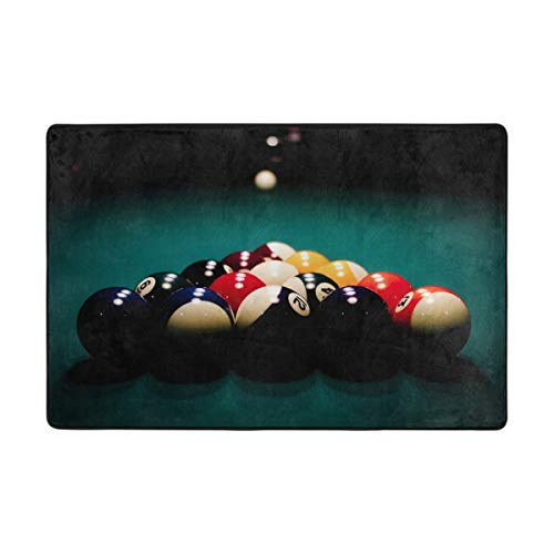 Fantazio Teppich, cooles Billiard-Ball, sportliches Muster, gerader Teppich-Greifer für Ecken und Kanten, idealer Teppichstopper für Küche/Badezimmer, Polyester, 1, 36 x 24 inch