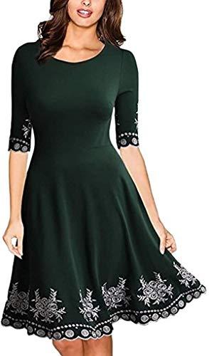 Half Sleeve Dress Women Fashion O-neck Print Casual Slim S-5XL Mini Dress