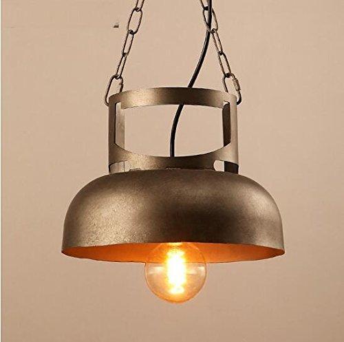WINZSC Creative Pots Pendentif Lampes Restaurants Lampes Fer Industrie du Vent Barres Art lumières réservoirs de gaz Fer Pendentif lumière ZA99553