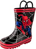 Favorite Characters Boy's Spiderman Rain Boots SPS506 (Toddler/Little Kid) Black 7 Toddler M