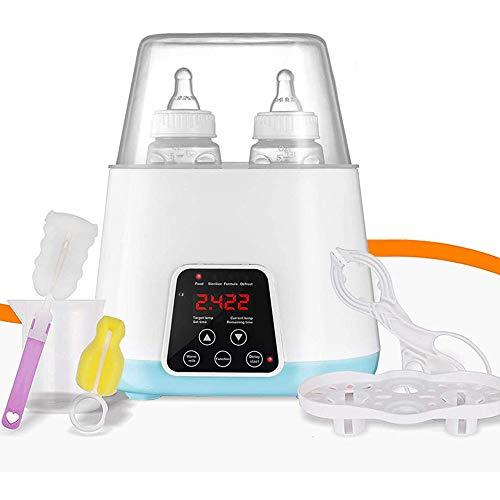 Baby Flaschenwaermer,6 in 1 Multifunktionale Sterilisator für Babykostwärmer mit Digitale Temperaturanzeige,Warmhaltefunktion, Auftauen für Babyflaschen und Schnuller für handelsüblichen Babyflaschen