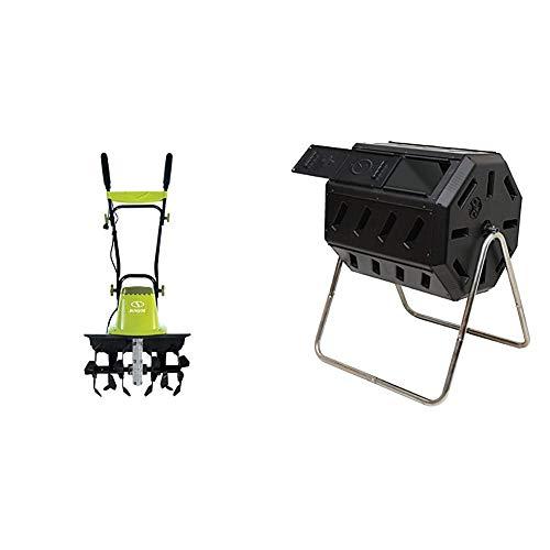Sun Joe TJ604E 16Inch 135 AMP Electric Garden Tiller/CultivatorBlack amp FCMP Outdoor IM4000 Tumbling Composter 37 Gallon Black