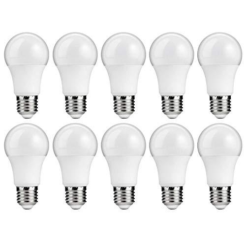 10x LED Birne | E27 | 9 Watt | warm-weiß 2700 K | Lampe Leuchtmittel Sparlampe | warmweiss | ersetzt Glühbirne 60 Watt | Abstrahlwinkel 220°| 10 Stück