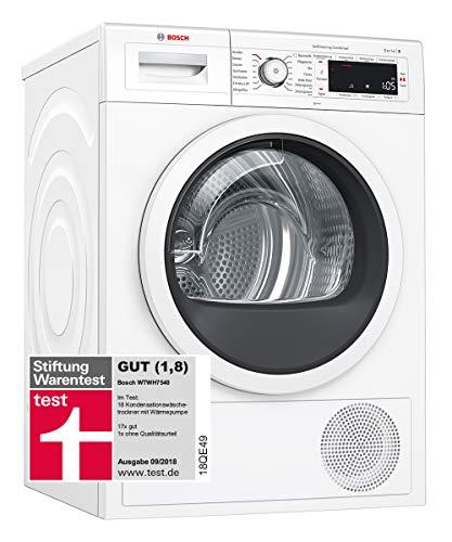 Bosch WTWH7540 Serie 8 Wärmepumpen-Trockner / A+++ / 176 kWh/Jahr / 8 kg / weiß mit Glastür / AutoDry / SelfCleaning Condenser / SensitiveDrying System / Home Connect