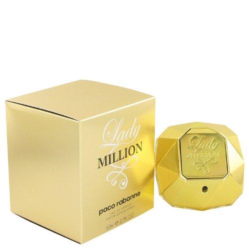 Lady Million by Paco Rabanne Eau de Parfum Spray para mujer, 2.7 onzas, 100% auténtico