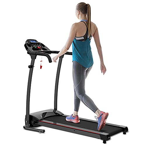 REDLIRO Folding Walking Treadmill for Home Electric Jogging Walking Running Machine with Transport Wheel and Easy Assembly