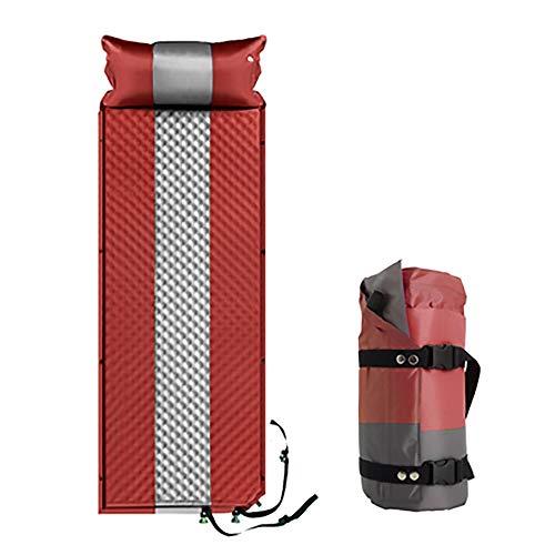 ZHILIAN & Automatisches Aufblasbares Kissen Dicke Einzelne Outdoor-Zelt-Schlafmatte Camping Feuchtigkeitsbeständige Matten Zusammenklappbare Tragbare Multifunktions-Luftbett-Spleiß-Schlafmatte