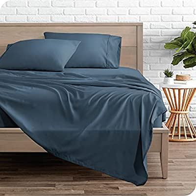 Bare Home Twin XL Sheet Set - College Dorm Size - Premium 1800 Ultra-Soft Microfiber Twin Extra Long Sheets - Double Brushed - Twin XL Sheets Set - Deep Pocket - Bed Sheets (Twin XL, Blue Sea)