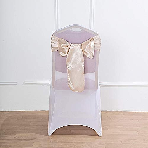 BalsaCircle 100 Beige Satin Chair Sashes 返品不可 ブランド買うならブランドオフ Bows for D Ties Wedding
