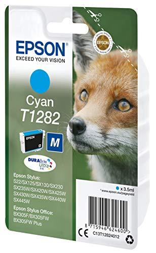 Epson C13T12824011 - Cartucho de tinta, cian válido para los modelos Stylus y Stylus Office SX445W, SX440W, SX435W, BX305FW Plus, BX305FW, BX305F y otros, Ya disponible en Amazon Dash Replenishment