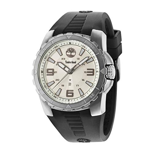 Timberland Reloj Analógico para Hombre de Cuarzo con Correa en Caucho TBL.14478JSU-07P