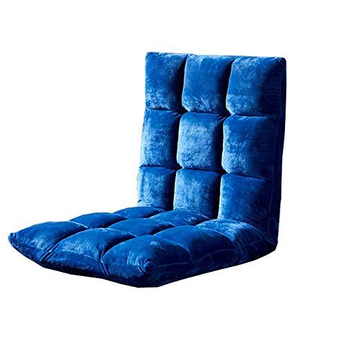 LJFYXZ Canapé Paresseux Chaise Réglage à 5 Vitesses Canapé Simple Lavable Fauteuil Pliant (Couleur : Bleu foncé)